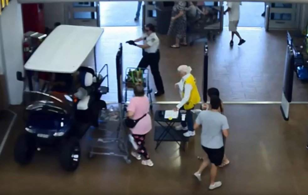 VIDEO: Man drove golf cart through Walmart, hit shoppers