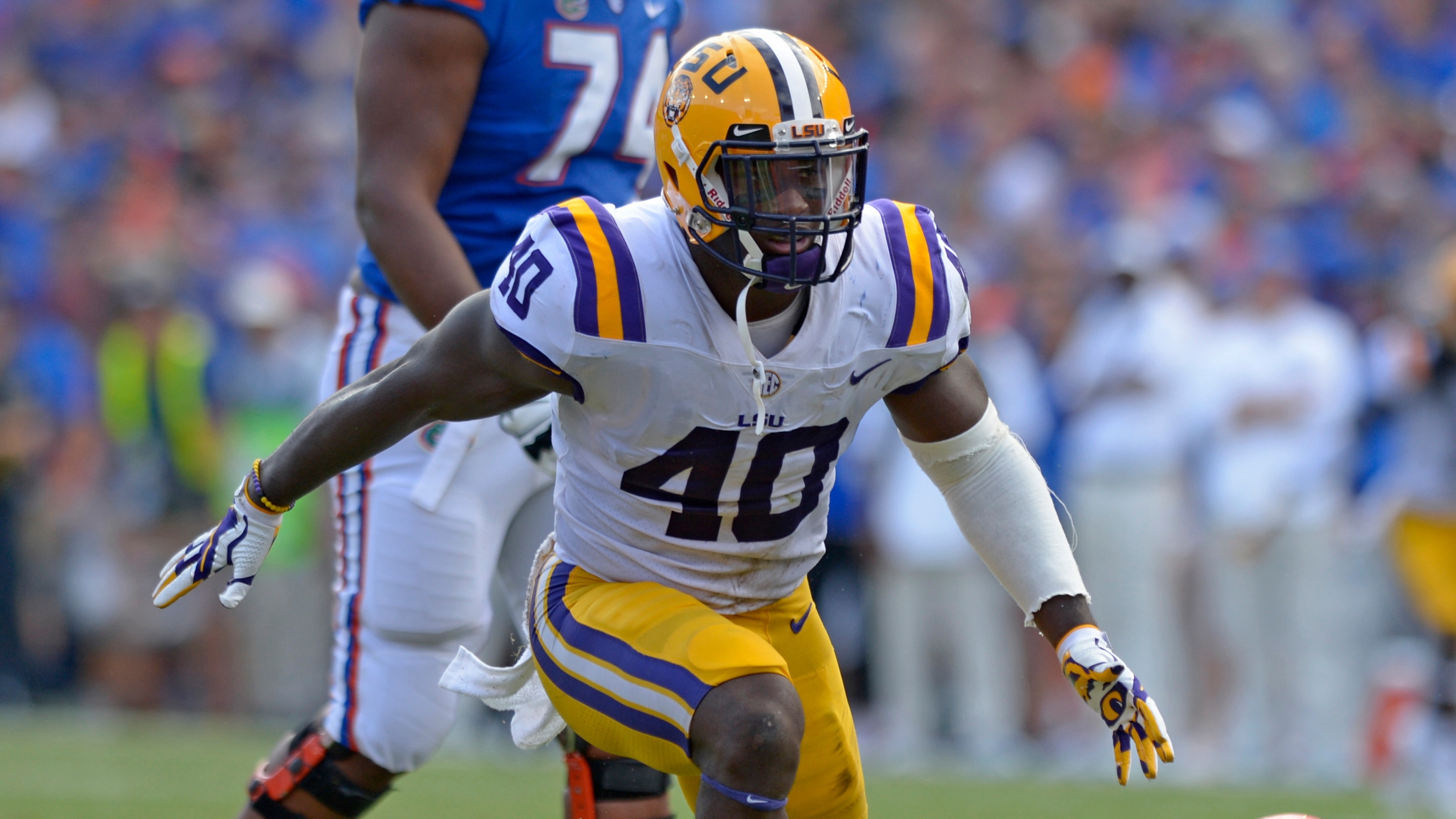 quality design 9402d 1a935 Bucs draft LSU linebacker Devin White in first round of the ...