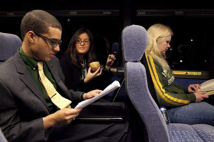 University Of South Florida Students Board Bus For Capitol Tuition Campaign