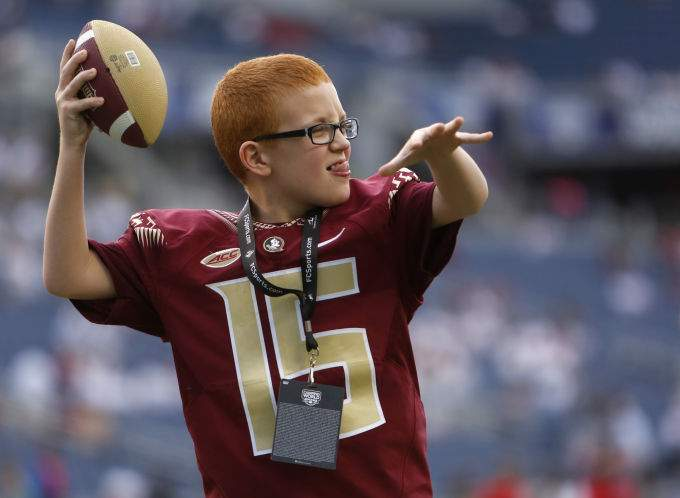 11 Year Old Bo Knows This He Has A Friend In Fsu S Travis Rudolph W Video