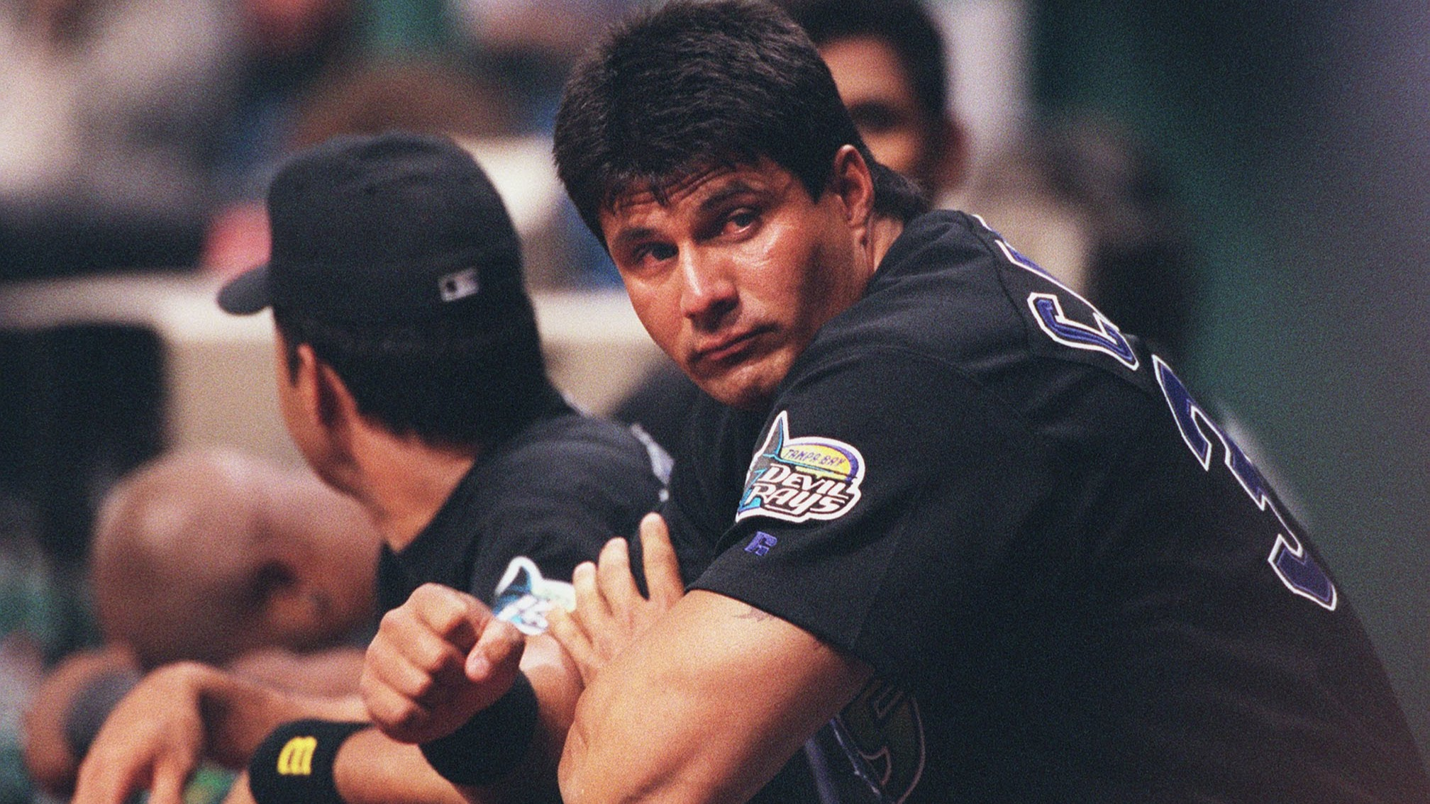 Designated hitter Jose Canseco and the Rays' much ballyhooed