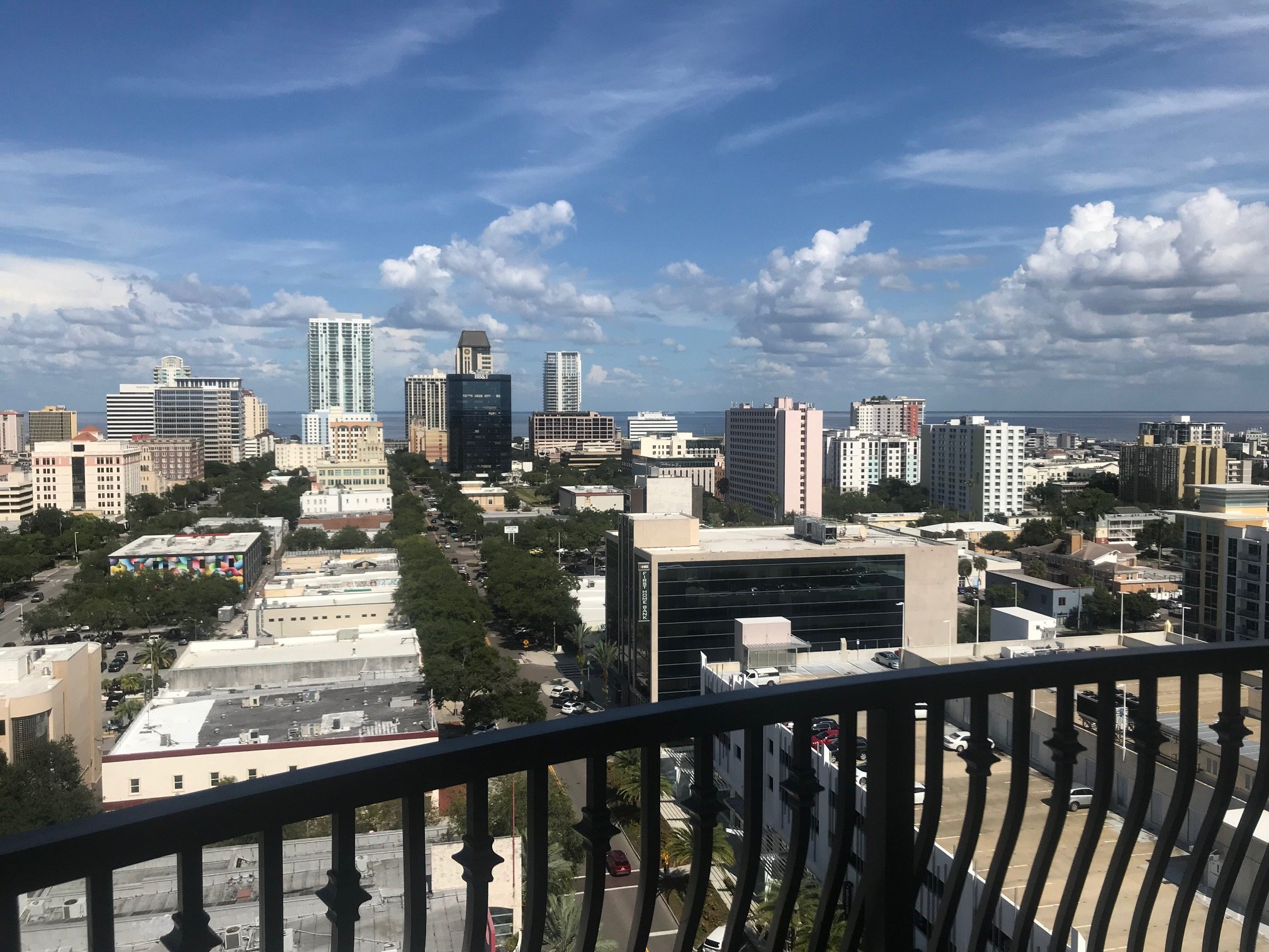 You can see the Sunshine Skyway from St. Pete's newest apartment tower. Some rents are sky-high, too.