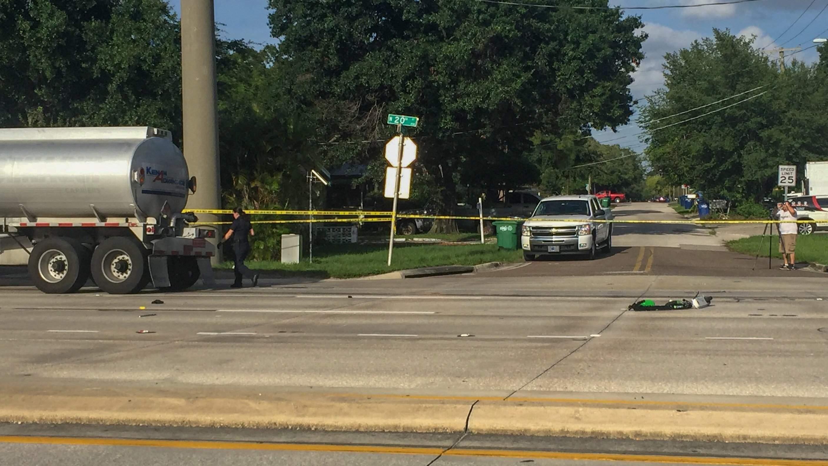 Tampa police identify e-scooter rider struck by semi-trailer