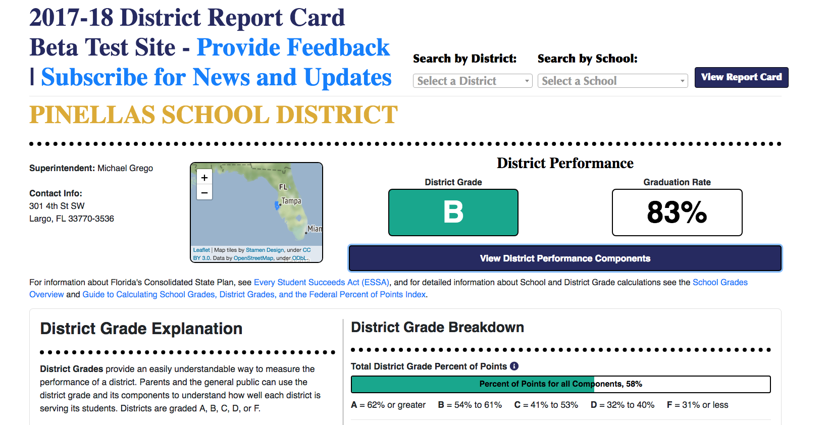 Education Department Launches New >> Florida Education Department Launches New School District