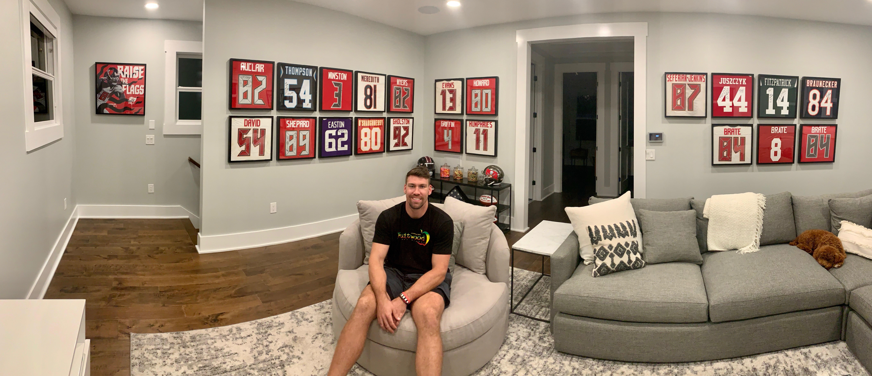 Inside Bucs' Cameron Brate's unique NFL jersey collection