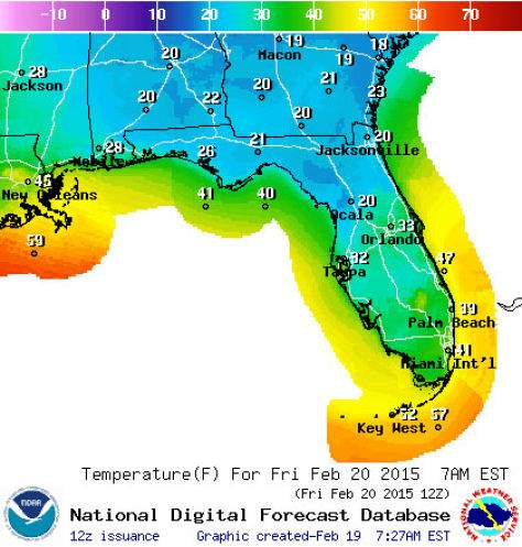 Historic cold snap threatens freezing temps; Florida to stop ...