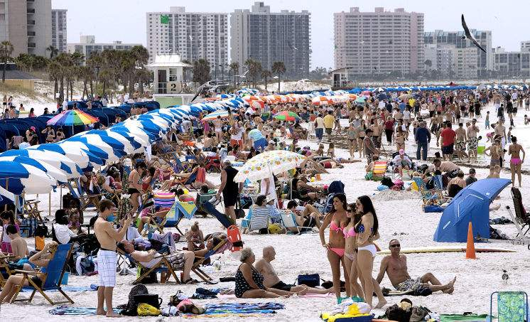 Image result for PHOTOS OF SPRING BREAK VACATIONERS IN FLORIDA IN 2020