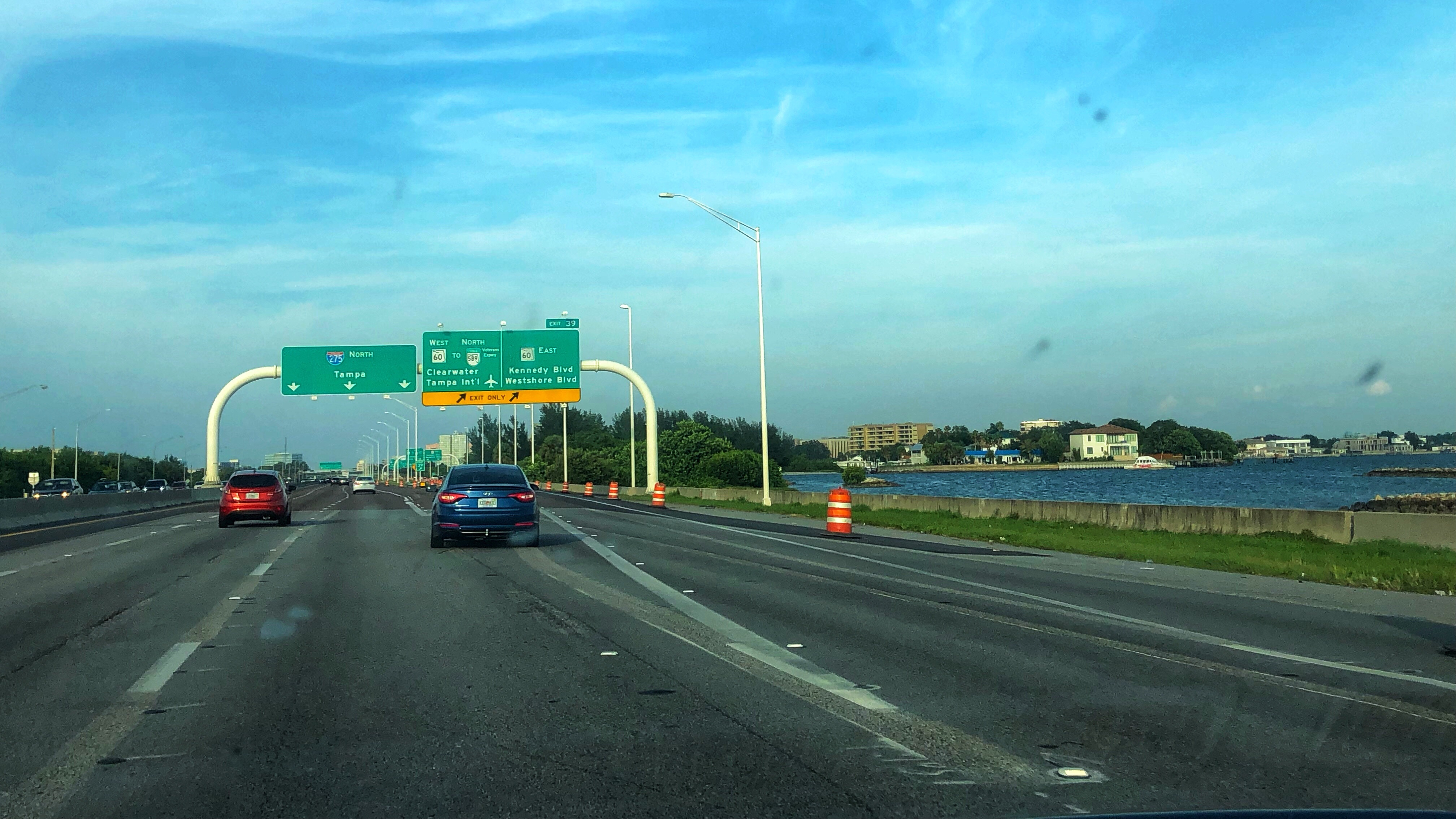 Dr  Delay: Awkward lane shifts along Howard Frankland bridge