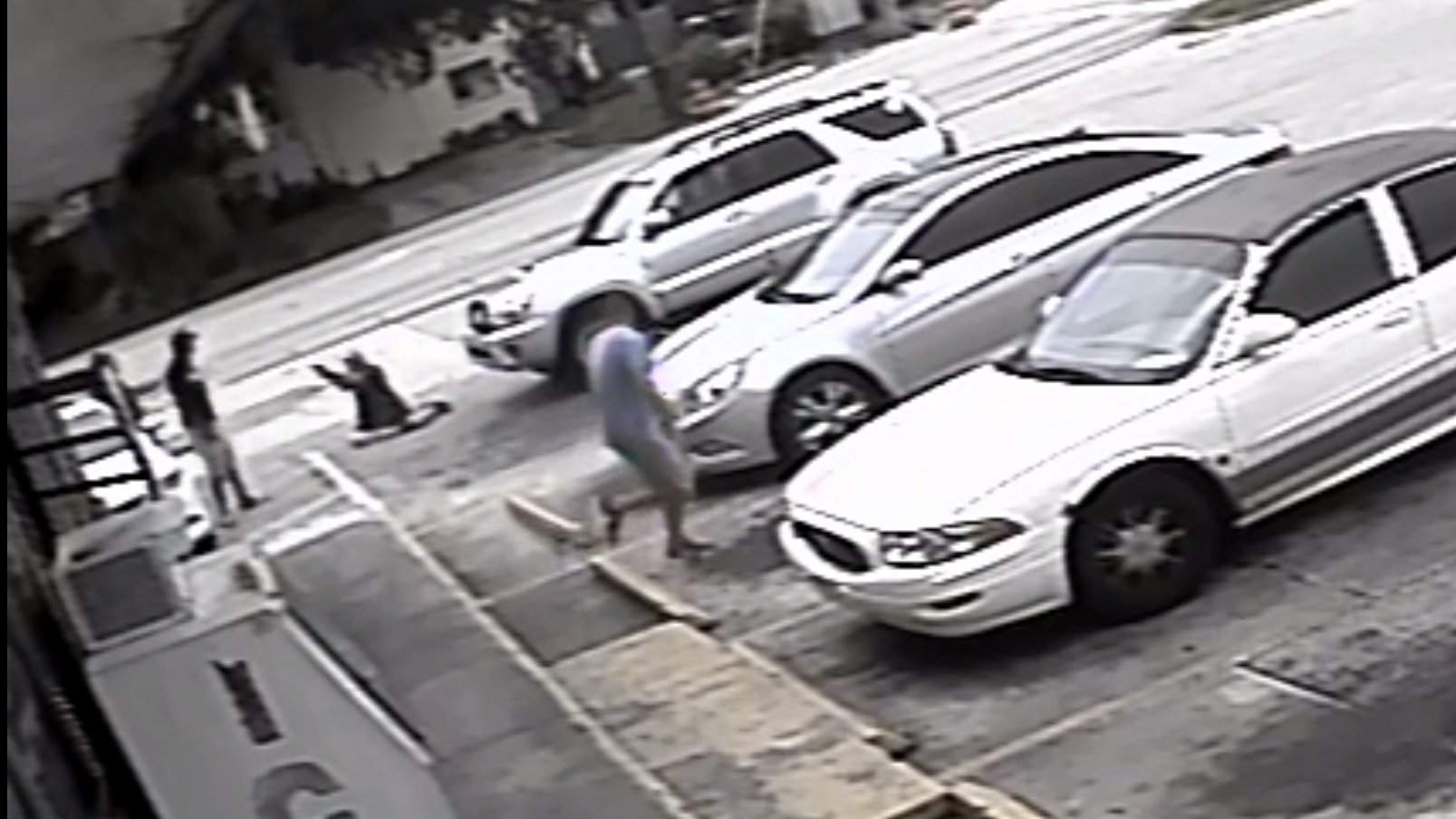 Millions have seen the video of Michael Drejka, 47, who shot dead Markis McGlockton, 28, after a brief confrontation over a parking lot in a Clearwater supermarket. Drejka is being tried for manslaughter [Pinellas County Sheriff's Office]