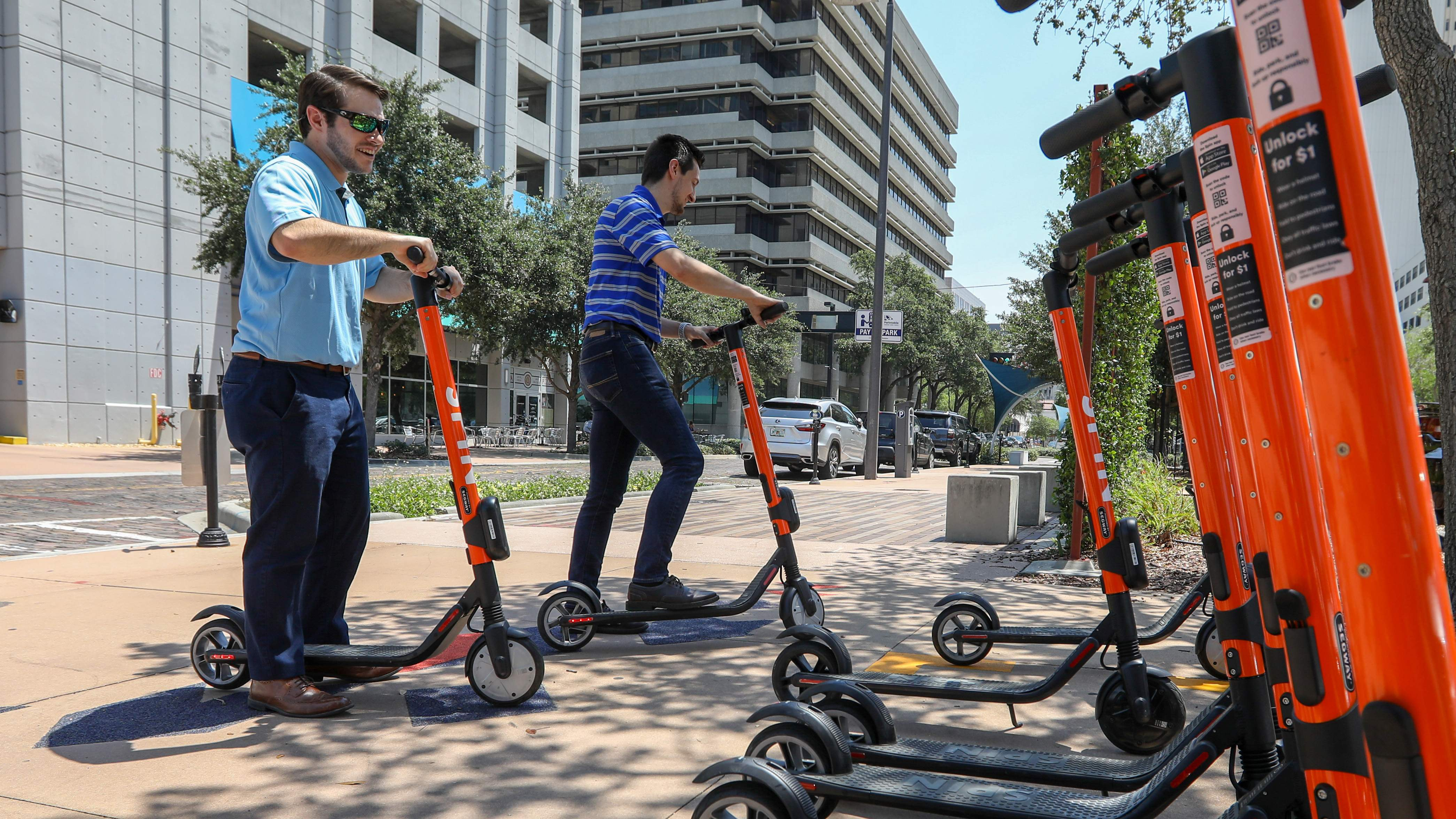 Scooters have arrived on Tampa sidewalks, and there are