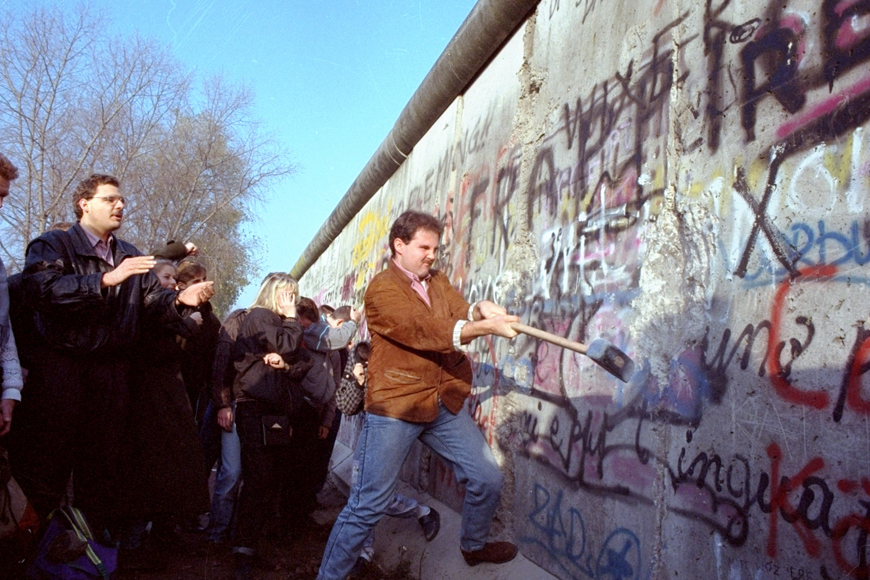 Image result for fall of the berlin wall""