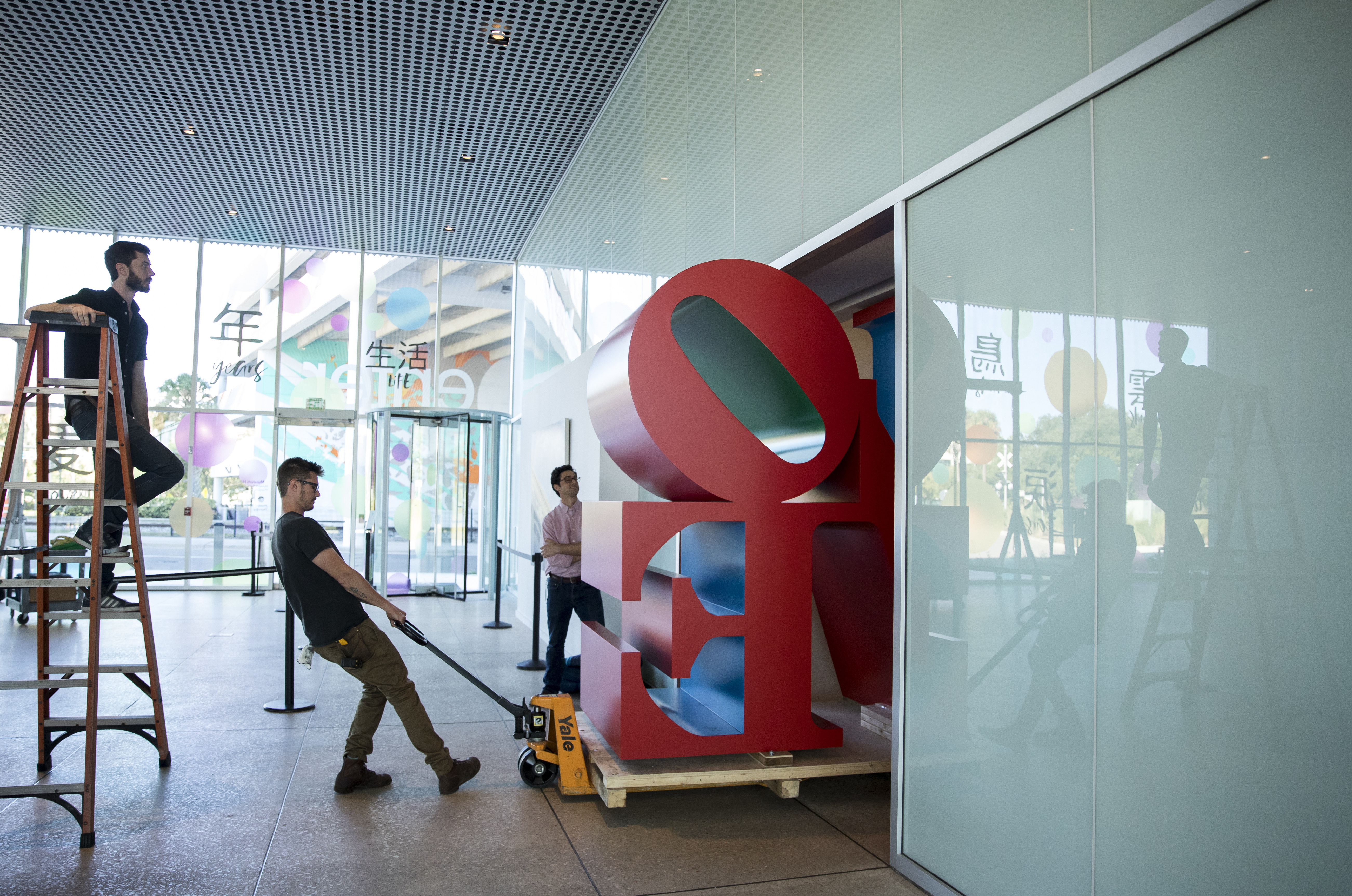 Artist Robert Indiana's LOVE sculpture visits the Tampa Museum of Art