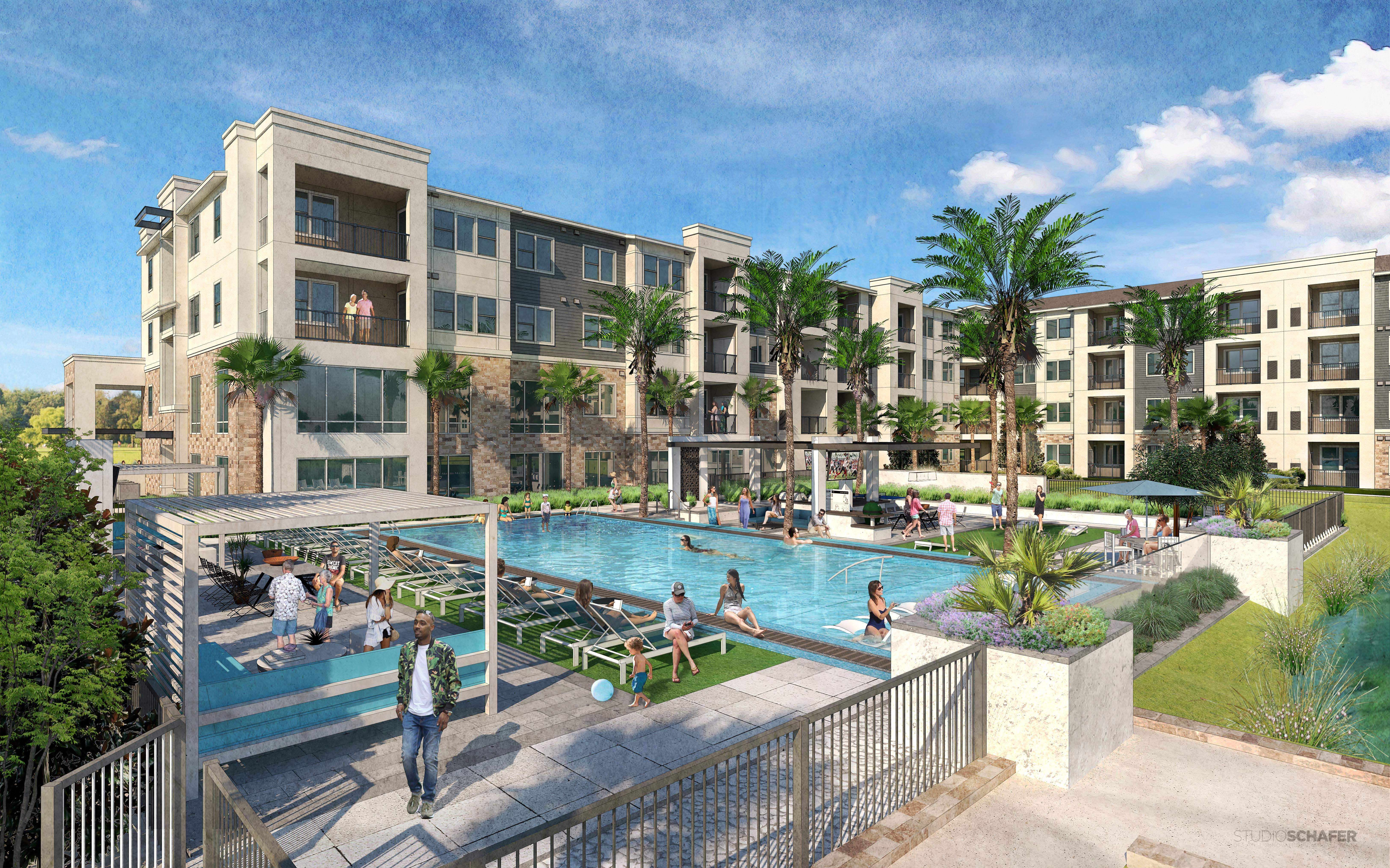 Astounding Three Big New Apartment Projects Underway In Tampa Bay Download Free Architecture Designs Scobabritishbridgeorg